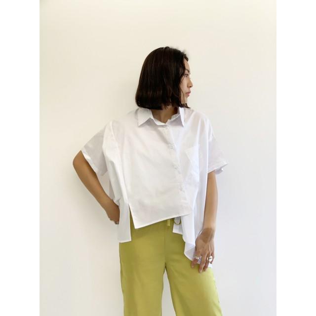 WHOO-AA・変形バッククロスシャツ(W1S1005)