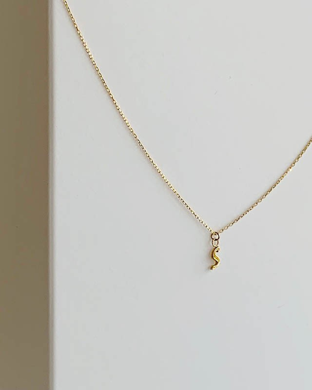 "K10 initial  "" s ""  necklace  /  Belleza by n"
