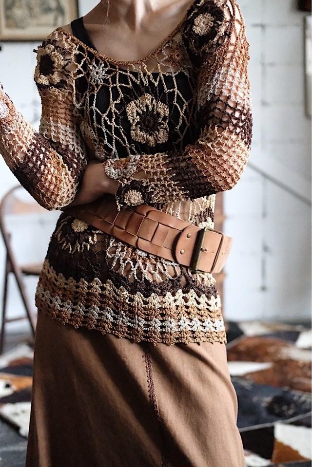 Crochet brown tops