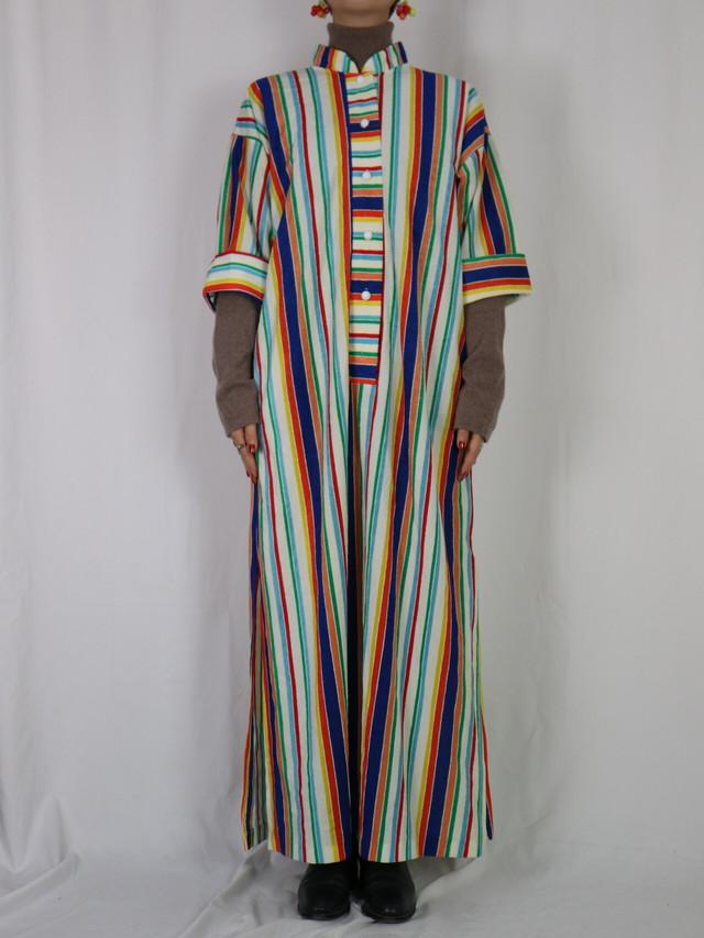 colorful stripe dress 【5232】