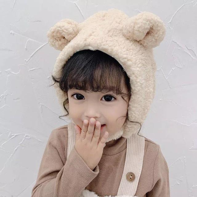 【お取り寄せ】ベビー/キッズ 耳付きもこもこ帽子 帽子 秋冬 男女兼用