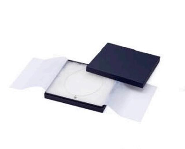 アクセサリー紙箱インロータイプ ネックレス大フリーケース 6個入り PC-363F