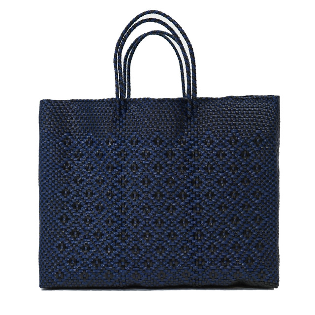 MERCADO BAG ROMBO - Black × Navy (L)