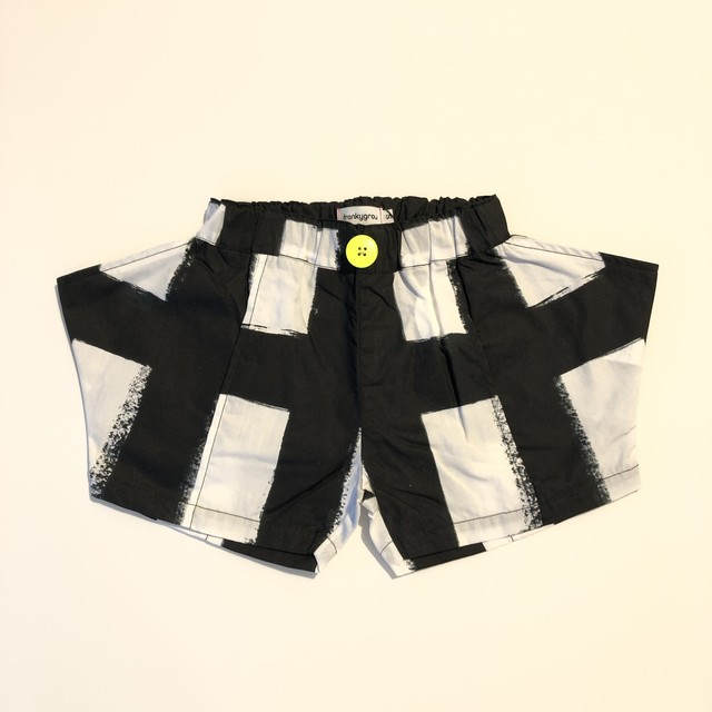 【21SS】フランキーグロウ ( frankygrow )ORIG CHECK RHOMBOS SHORT PANT[ LL ]white-black ショートパンツ