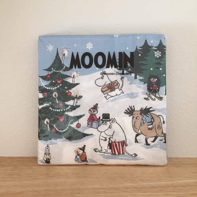 2019冬新作【ムーミン】ランチサイズ ペーパーナプキン CHRISTMAS WONDERLAND ホワイト 20枚入り