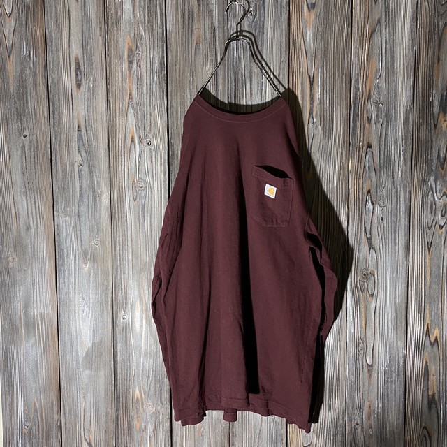[Carhartt]wine red long T shirt