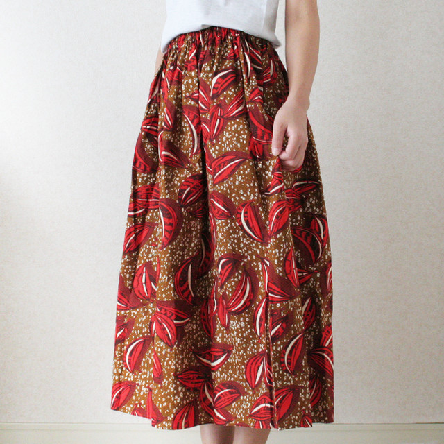 アフリカンプリントスカート&ヘアバンドセット/195a/ &JOURNEY orginal