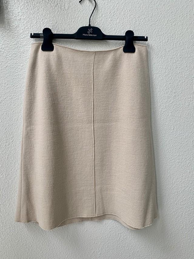 【ROSSO/ロッソ】ウールニット台形スカート(830-215)
