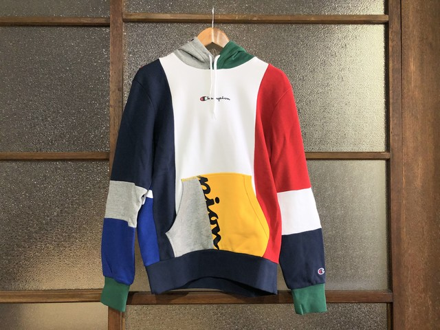 CHAMPION COLOR BLOCK PATCHWORK HOODIE (MULTI)