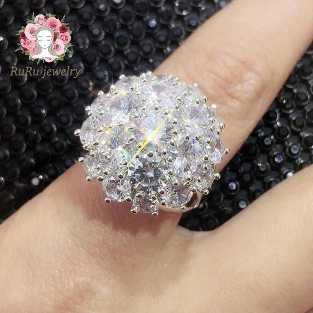 s925 round flower(ring)