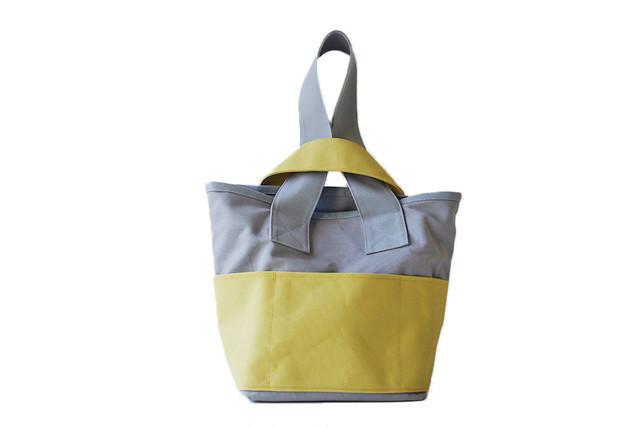 CLOUCHY SHOULDER BAG (ライトグレー×ライムイエロー)