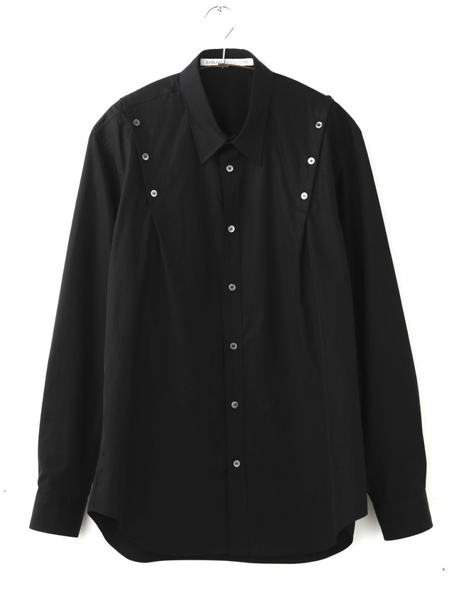 【JOHNLAWRENCESULLIVAN】《21SS》SHOULDER BUTTON SHIRT 3A001-0221-19