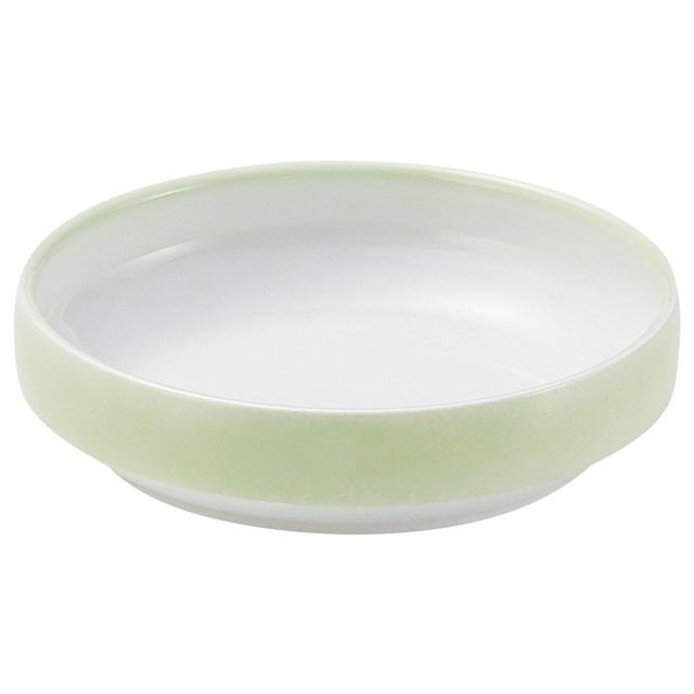 【1715-2780】強化磁器 17cm すくいやすい食器 ぼかし若草