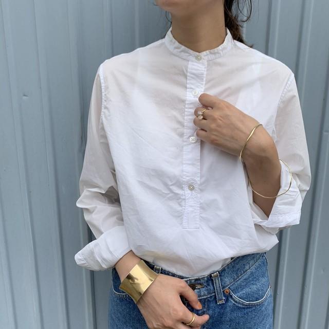 """USED """"MARGARET HOWELLスタンドカラーコットンシャツ"""""""