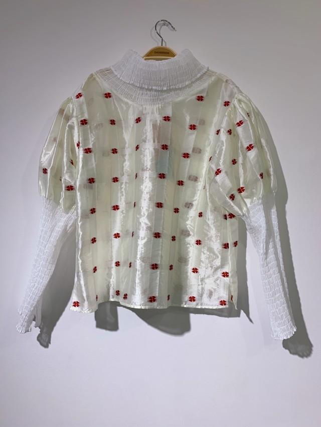 Flower Shirring Tops