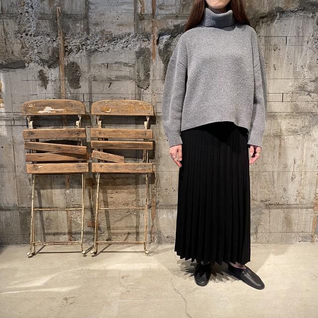 MAISON REGAR【メゾンルギャール】ニットプリーツスカート02MRK-11(BLACK)