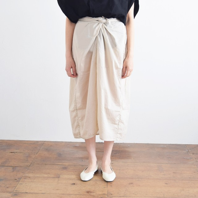 COSMIC WONDER   コズミックワンダー  オーガニックコットン ラップドスカート Beautiful organic cotton wrapped skirt 11CW16046 ancient clay