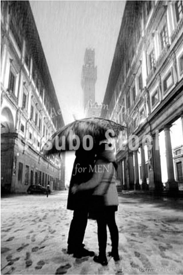 2005年撮影 イタリア ウフィツィ美術館 恋人 雪景色【381200501】