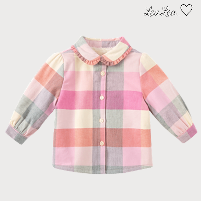 dave&bella2021AW新作♡裏起毛パステルカラーシャツ(73cm-140cm)| LeaLea...♡(レアレア)-海外の子供服セレクトショップ