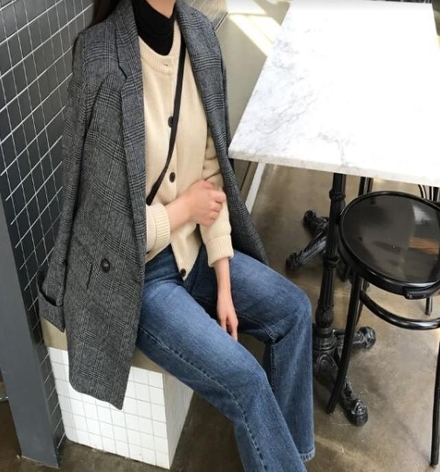 スーツジャケット 2色 チェック