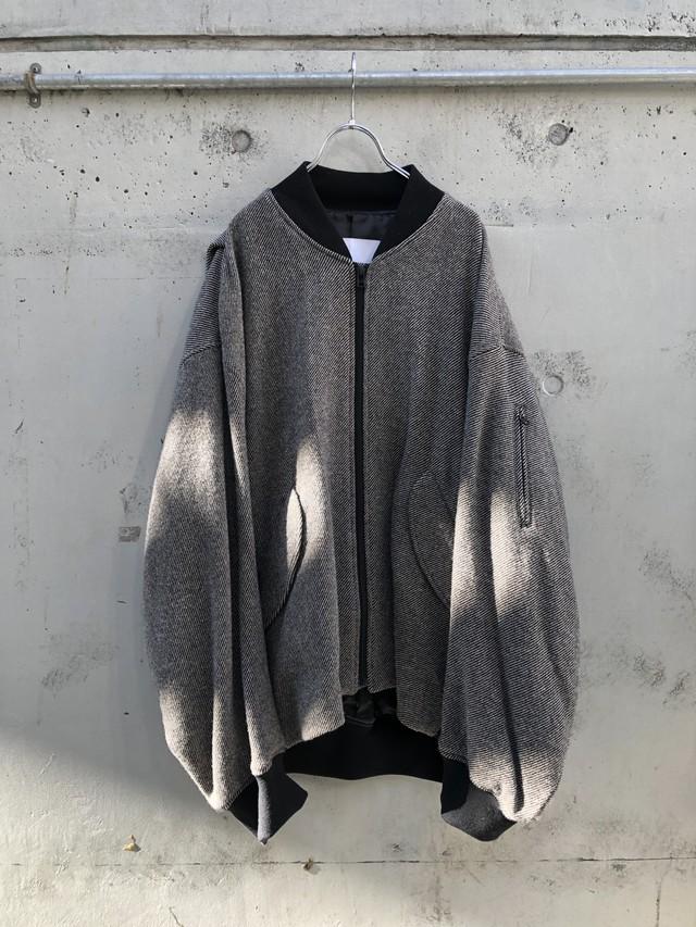 『VOAAOV』tumbler tweed zip brouson