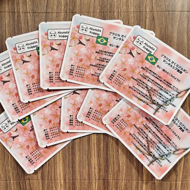 4月末まで:ドリップバッグ ブラジル さくらブルボン サンタルシア農園 10個入