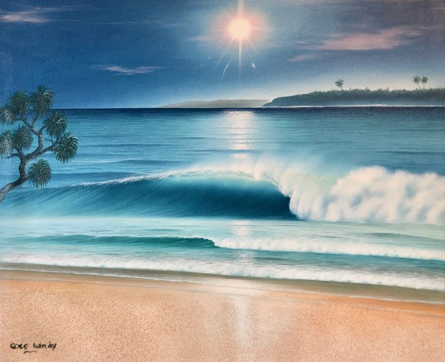 Dreamland Wave Art F15 With Real Sand