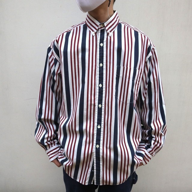old GAP mulch stripe shirt