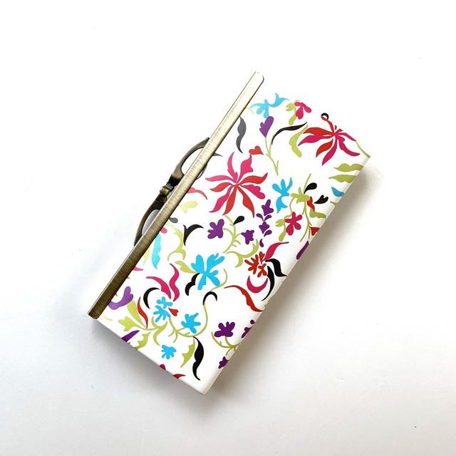 【秀和 x pink india】北欧デザイン 牛革がま口復刻長財布 | feather