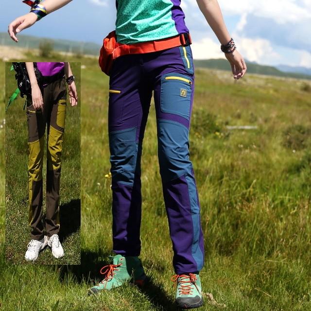 登山 速乾性 パンツ スリム 通気性 ウィンドブレーカー ハイキング ジョギング ランニング トレーニング パープル ブラウン