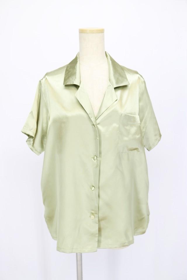 short sleeve design blouse / champagne GRN