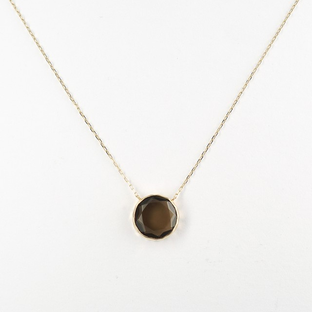 Marbles smoky quartz necklace