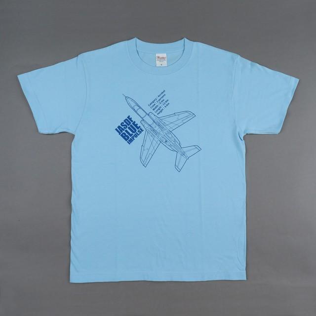 オリジナル航空機 Tシャツ ブルーインパルス