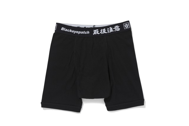 BLACK EYE PATCH / HANDLE WITH CARE BOXERS (2 PAIRS)