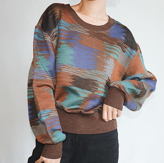 Pattern brown knit