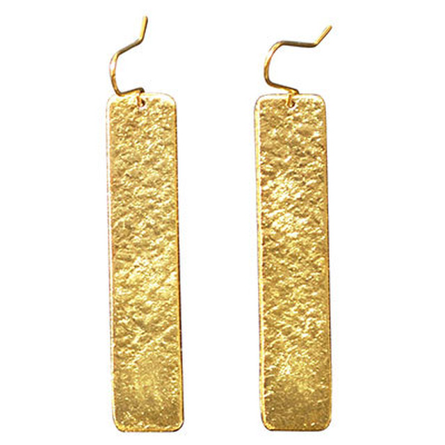 【全国送料無料】TIN BREATH Pierced earring H 10×50mm Gold