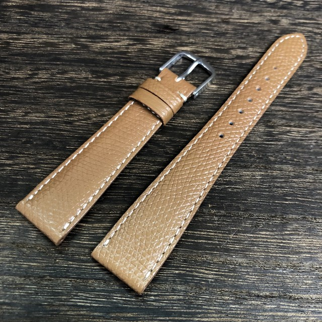 BAMBI ELCE エルセ カーフ シボレザー ブラウン 18mm 腕時計ベルト