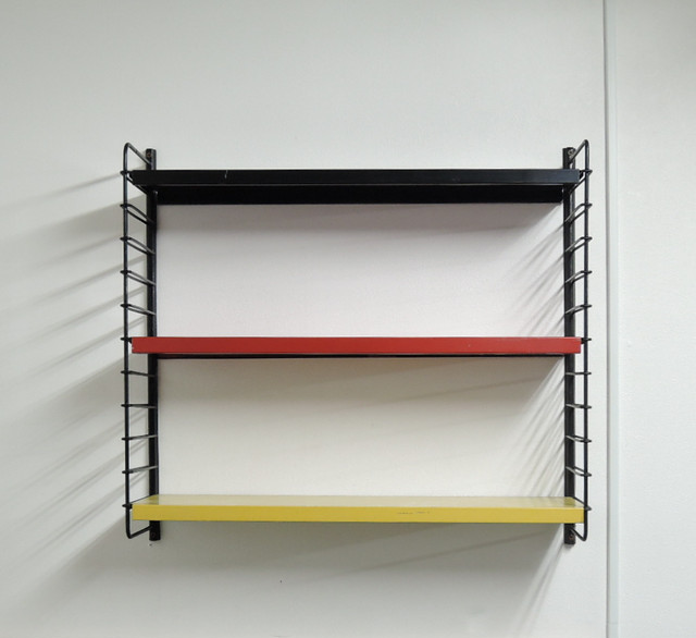 Vintage Pilastro Metal Wall Shelving 60's オランダ