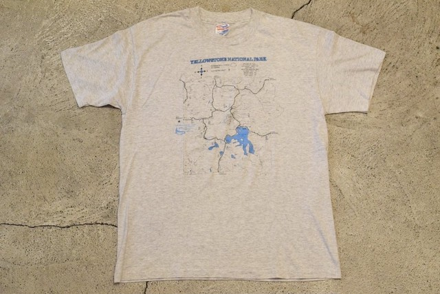 USED 80s Yellowstone National Park T-shirt -Large 0997
