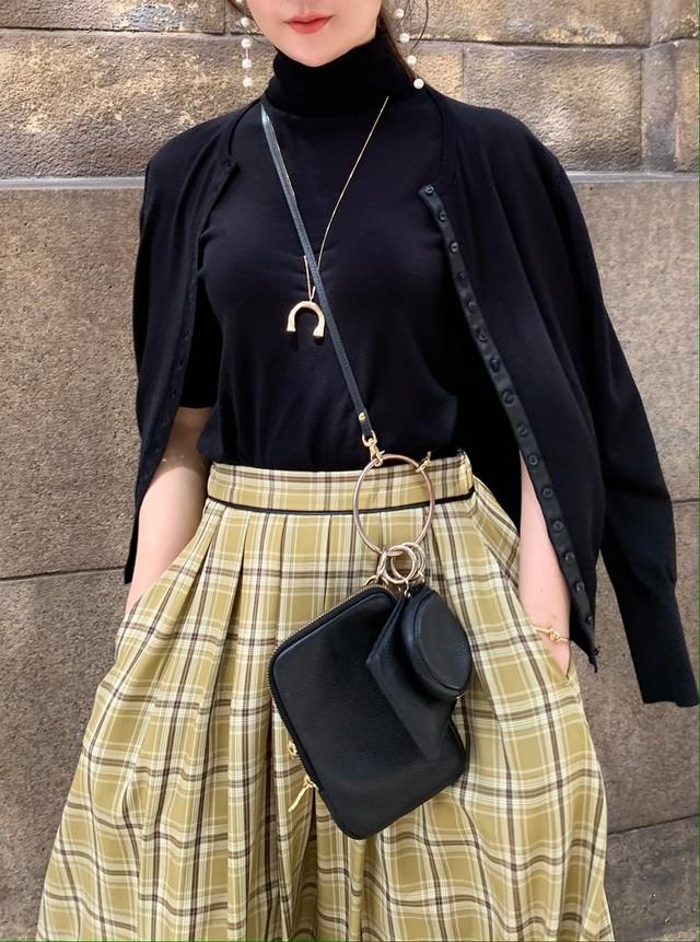 【予約】mini button knit ensemble / black  (10月中旬発送予定)