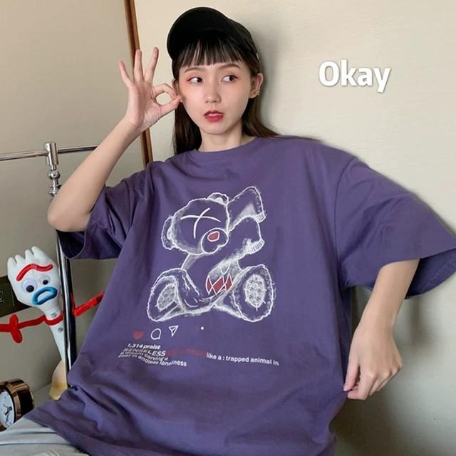 【トップス】キュートカジュアル半袖ファッションTシャツ28309757