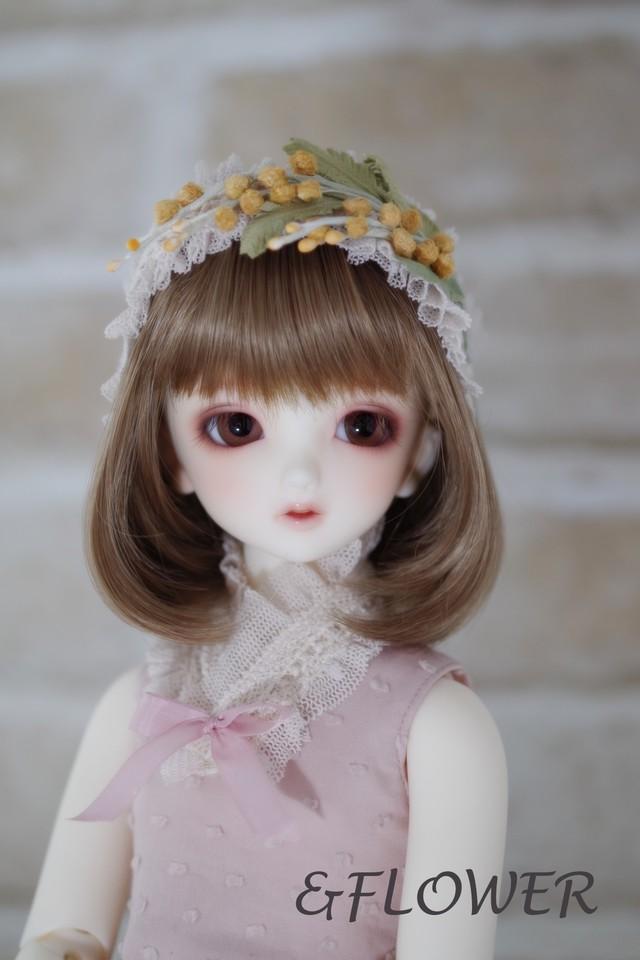 40cmドール用ワイヤー入りヘッドドレス(ミモザA)