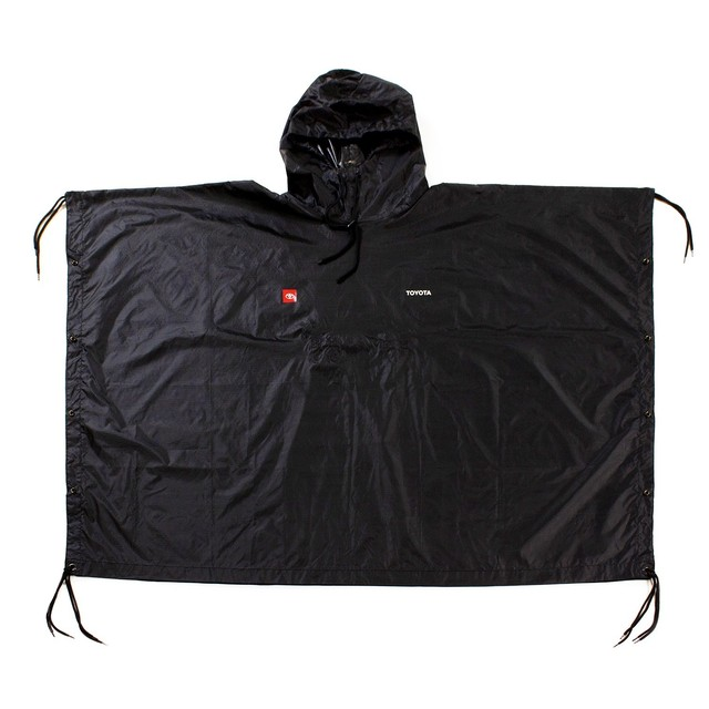 TOYOTA Rain Coat - Black