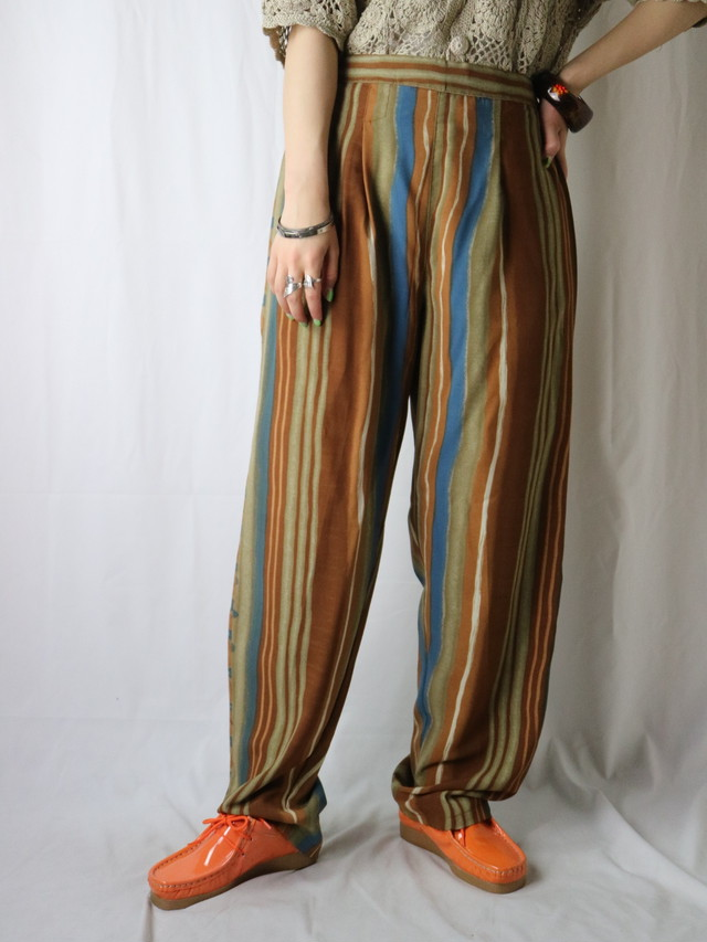 stripe pattern easy pants【5626】