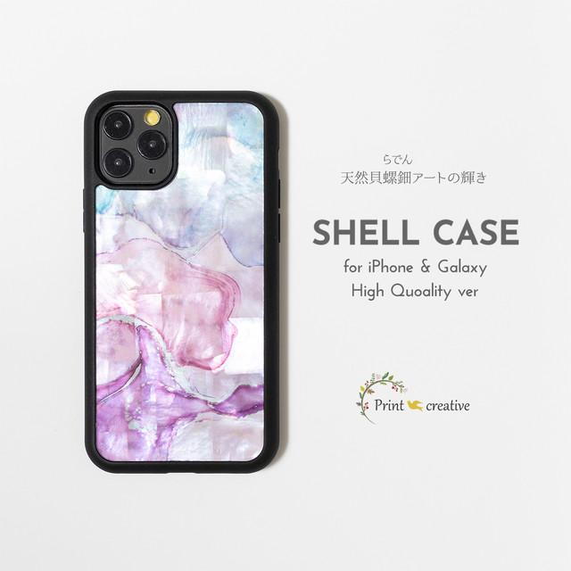 天然貝シェル★マーブル・スウィート(iPhone/Galaxyハイクオリティケース)|螺鈿アート|iPhone12  iPhone11pro iPhoneSE 第二世代 GalaxyS20