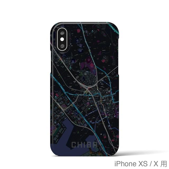 【千葉】地図柄iPhoneケース(バックカバータイプ・ブラック)