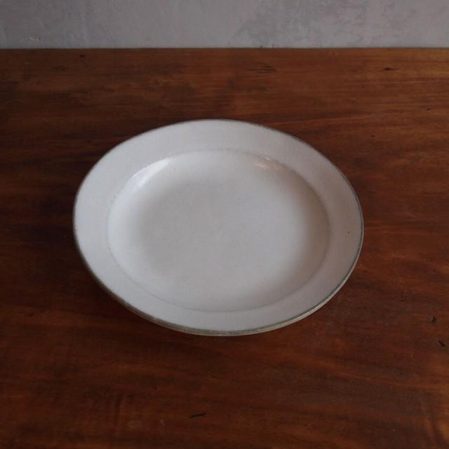 松尾直樹 | 乳濁釉 6寸リム皿