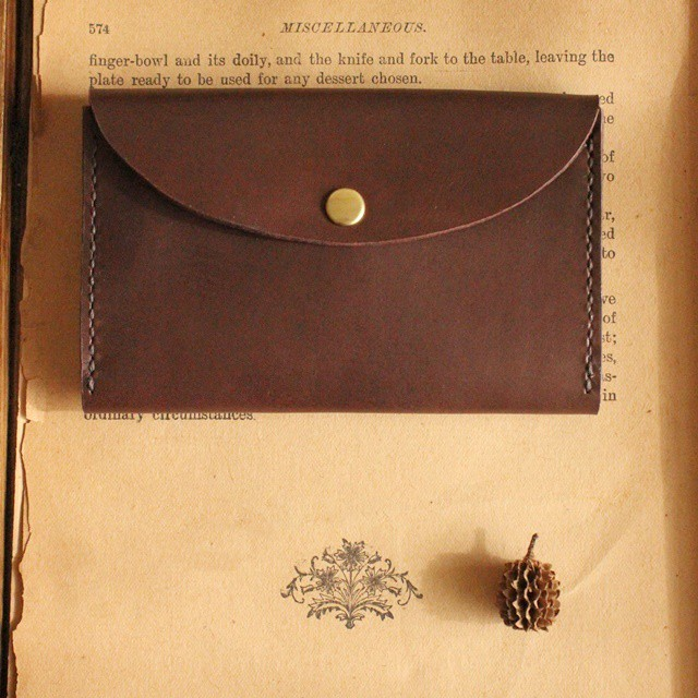 ■ 【 sim wallet pass case / D.brown 】