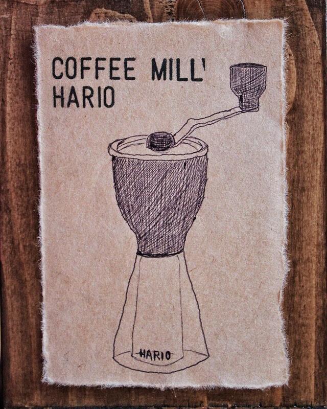 ハリオ コーヒーミル・セラミックスリム