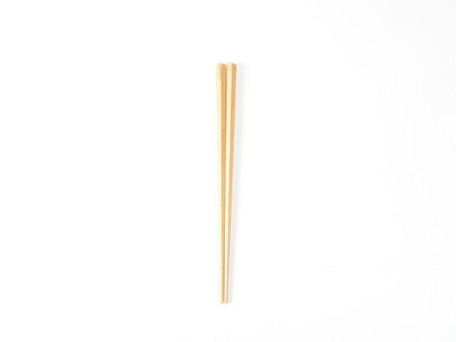プラム工芸|斧折樺の五角箸 21.5cm